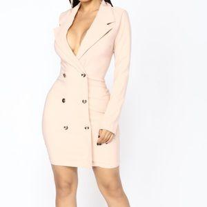 Nude blazer dress